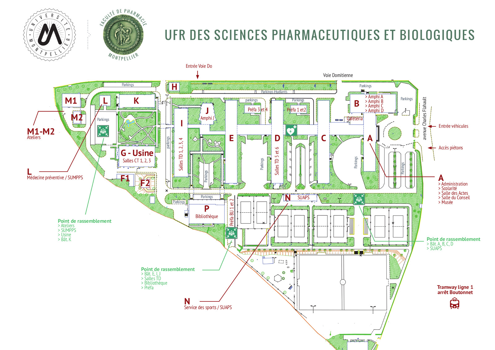 Contact et plan d acc s ufr des sciences pharmaceutiques for Abrite des plans et des plans